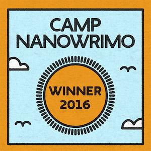 Camp NaNoWriMo Winner 2016