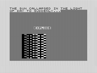3D Image, Screen Shot, ZX81, Steven Reid 1984