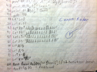 Canyon Raider Notes, 1983