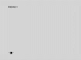 Code IV Ready prompt ZX81 screen shot, Steven Reid 1985/2017