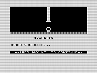 Trail Blazer, ZX81 screen shot, Steven Reid 1984