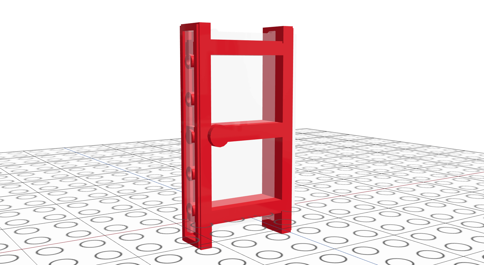 Screenshot of LEGO 1x4 door recreated in Mecabricks