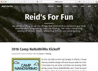 Cleanblog Theme for reids4fun.com, 2016