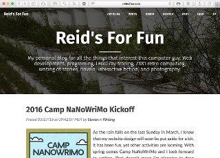 Cleanblog Theme for reids4fun.com, 2016