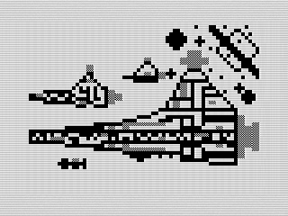 ZX81 screen shot, Star Wars by Steven Reid, 2017