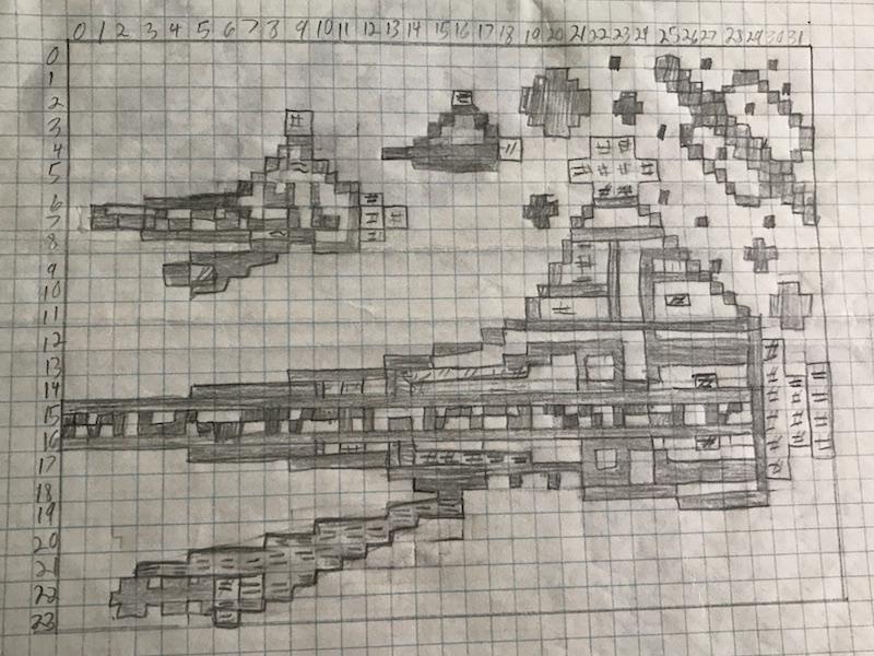 Star Wars ZX81 Sketch, by Steven Reid 1983