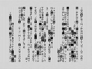 z80 Digital Rain, a ZX81 Screenshot, 2021 by Steven Reid